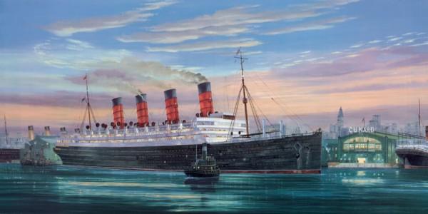The Aquitania at Pier 54