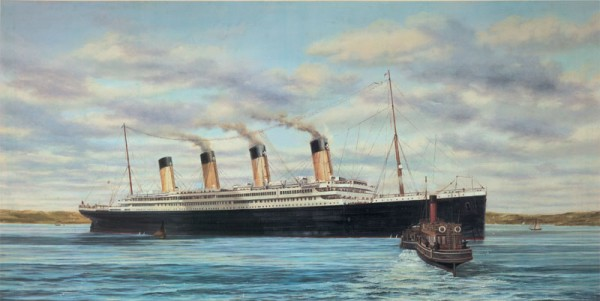 Titanic at Queenstown 1