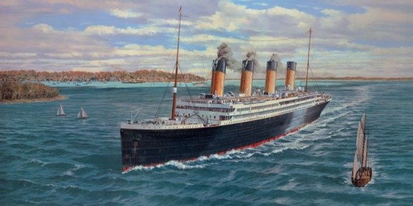 Titanic Passing Cowes, Isle of Wight